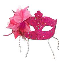 pink masquerade masks buy pink masquerade mask large flower and tassels at simply party