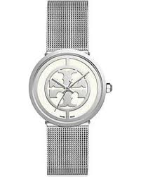 silver bracelet watches images Find the best deals on tory burch women 39 s reva silvertone mesh