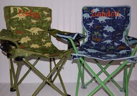 Monogrammed Lawn Chairs Personalized Boys Toddler Folding Camping Chair Dinosaur