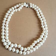 pearl size necklace images Real pearl necklace poshmark jpg
