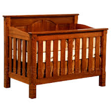 Solid Back Panel Convertible Cribs 4 In 1 Cribs Made In Usa Solid Wood Amish Baby Cribs