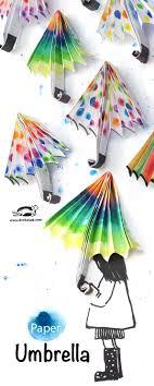 How To Make Paper Umbrellas - krokotak paper umbrella