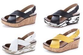 clarks stasha hale leather wedge shoe with loop fastening amazon