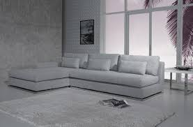 light grey armless sectional couch for modern living room