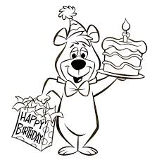 flintstones barney coloring pages yogi bear birthday art