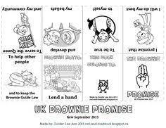 canadian brownie promise mini colouring book owl toadstool