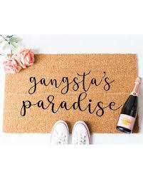doormat funny hot memorial day sales on gangsta paradise cursive doormat funny