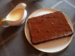 une marquise en cuisine marquise au chocolat et crème anglaise bonne cuisine