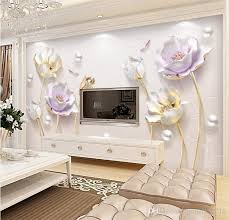 decorative wallpaper for home 3d embossed tulip flower jewelry wall mural photo wallpaper home