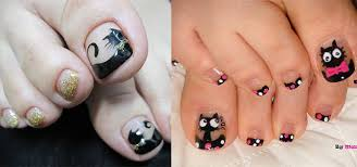 cat face toe nail art designs u0026 ideas 2014 for girls fabulous