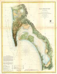 San Diego State Map by 1857 U S C S Map Of San Diego Bay California Geographicus