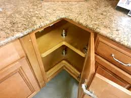 Corner Cabinet Solutions In Kitchens Bathroom Awesome Corner Cabinet Ideas Hinge For Kitchen