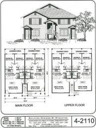House Building Plans Plan 59370nd Contemporary Duplex Plan Duplex Plans House And