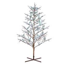 shop ge 8 ft pre lit winterberry artificial tree with
