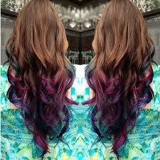 mermaid hair extensions brown to purple mermaid ombre indian remy clip in hair extensions