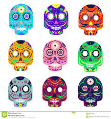 skull tattoo images free day of the dead skull tattoo vector set stock vector image 40622331
