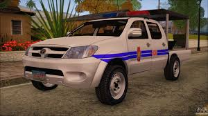 toyota van philippines toyota hilux philippine police car 2010 for gta san andreas