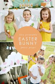 easter photo props free printable bunny hop bunny ears and nose photo props frog