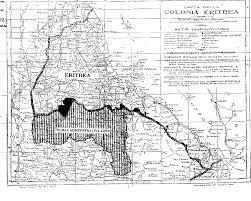 Eritrea Map The Ethiopia Eritrea Border And The Italy Ethiopia Treaty Of 1902
