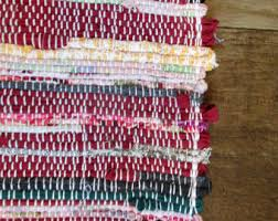 Woven Rugs Cotton Hand Woven Rug Etsy