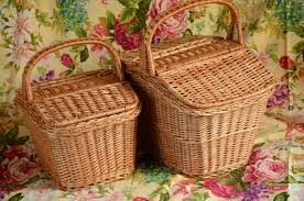 picnic baskets for two handmade wicker picnic basket handmade willow basket picnic