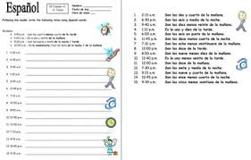 spanish time practice worksheet 1 el tiempo by sue summers tpt