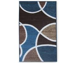 Brown And Blue Rug Accent Rugs And Mats For The Home Big Lots