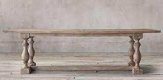 17th c priory rectangular dining table restoration hardware