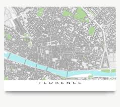 Florence Italy Map Florence Map Print Italy Grey U2013 Maps As Art