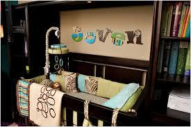 luxury baby room design idea with blue wallpaper white crib