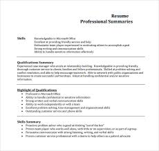 Professional Summary Resume Examples by Professional Summary Example For Resume