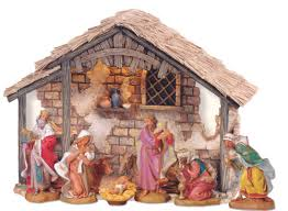 nativity sets 7 5 inch scale 8 lighted nativity set with stable by
