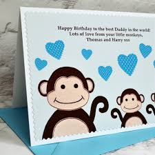 little monkeys u0027 birthday card from children by jenny arnott cards
