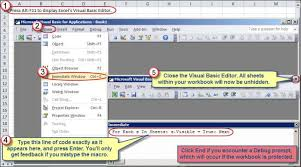 unhiding all worksheets within an excel workbook accountingweb
