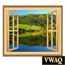 meadow lake with forrest scene window frame decal peel and stick