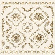 set of vector damask ornaments stock vector juli goncharova