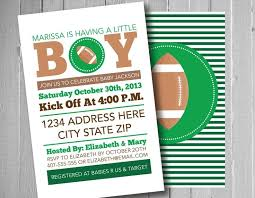 football baby shower invitation for baby shower brilliant football baby shower