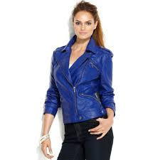 blue motorcycle jacket inc international concepts faux leather classic motorcycle jacket