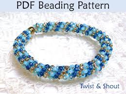 simple beaded bracelet images Beading tutorial pattern bracelet necklace tubular peyote stitch 37263