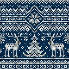 christmas pattern knit fabric winter holiday seamless knitted pattern with a christmas trees and