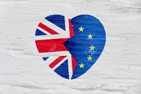 The European Flag Brexit Icon British Flag Eu Flag Broken Heart Symbol Of Exit