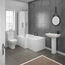 Cheap Modern Bathroom Suites Milan Modern Shower Bath Suite At Plumbing Co Uk