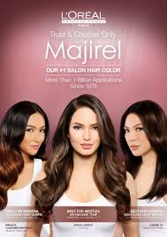 hair color for pinays l oréal professionnel majirel unveils its filipina endorsers