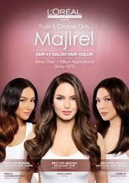 hair color for filipina woman l oréal professionnel majirel unveils its filipina endorsers