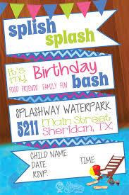 birthday invitations splashway waterpark u0026 campground