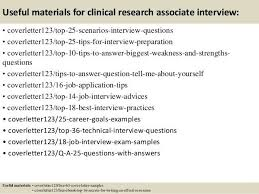 research associate cover letter free clinical research associate