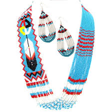 wholesale beaded necklace images Native american style seed bead creations jpg