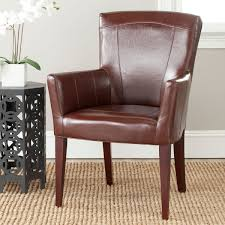 Accent Chair With Brown Leather Sofa Mcr4710a Accent Chairs Furniture By Safavieh