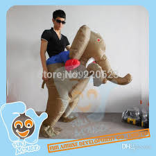 Halloween Costumes Elephant 2017 Wholesale Funny Adults Halloween Costume Inflatable Ride