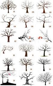 collection of 25 family tree print
